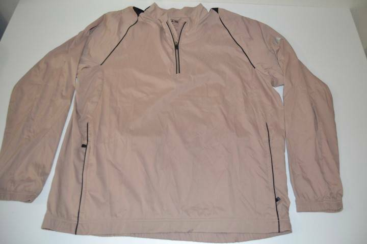 Adidas golf brown tan wind rain thin jacket mens size xl for Adidas golf rain shirt