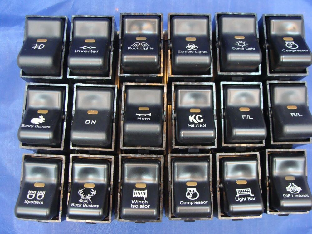 1997 2006 Jeep Tj Wrangler Accessory Rocker Switches For