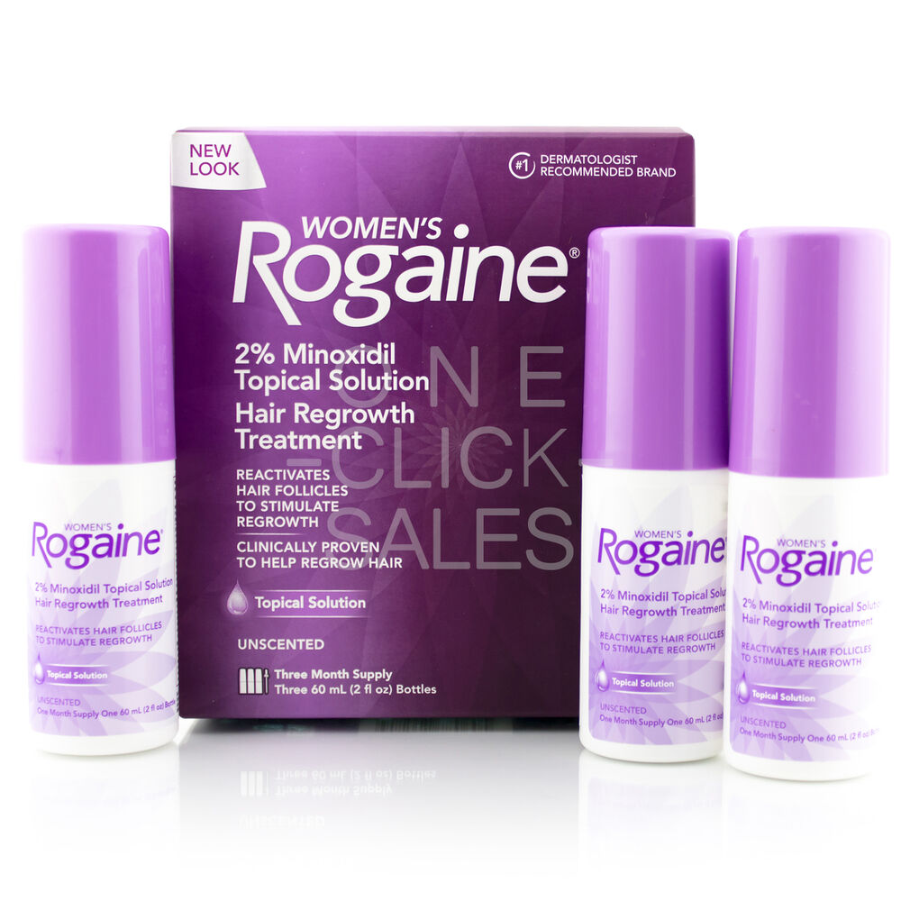 rogaine for women 3 month supply hair regrowth topical solution 2 minoxidil 11822302487 ebay. Black Bedroom Furniture Sets. Home Design Ideas