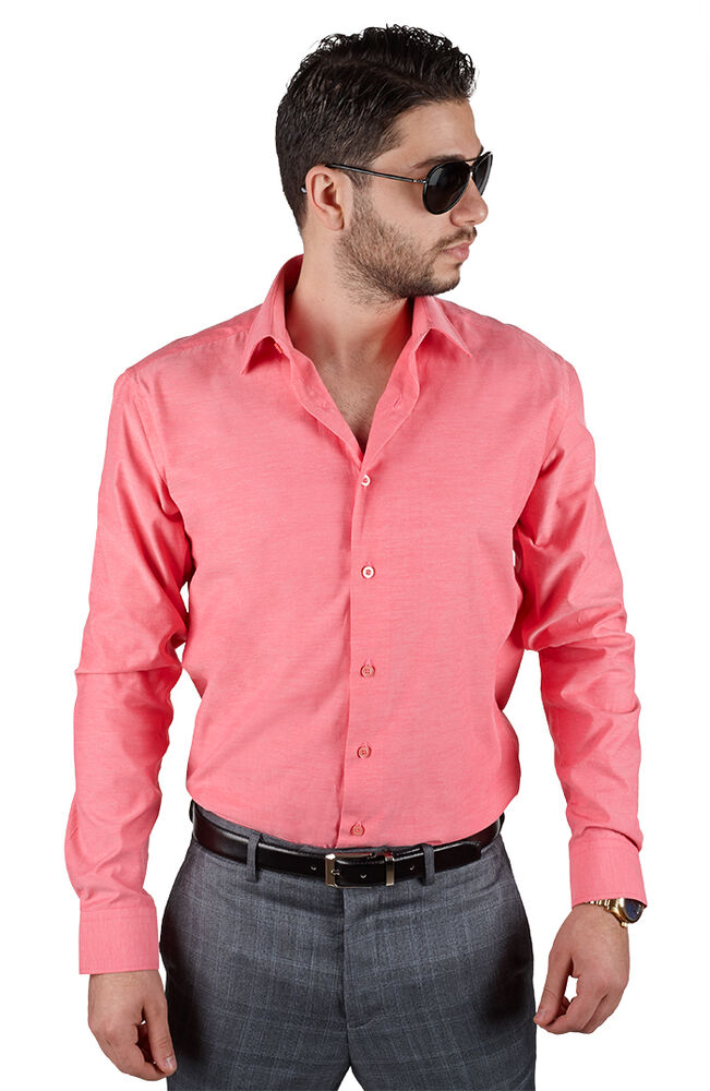 Mens Slim Fit French Cuff Dress Shirts
