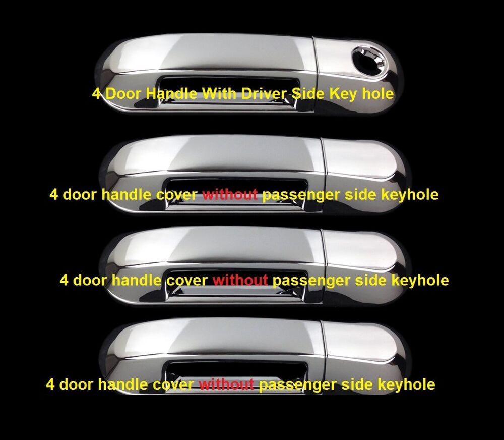 For 2002 2010 Ford Explorer Sport Trac Chrome 4 Door Handle Covers Ebay