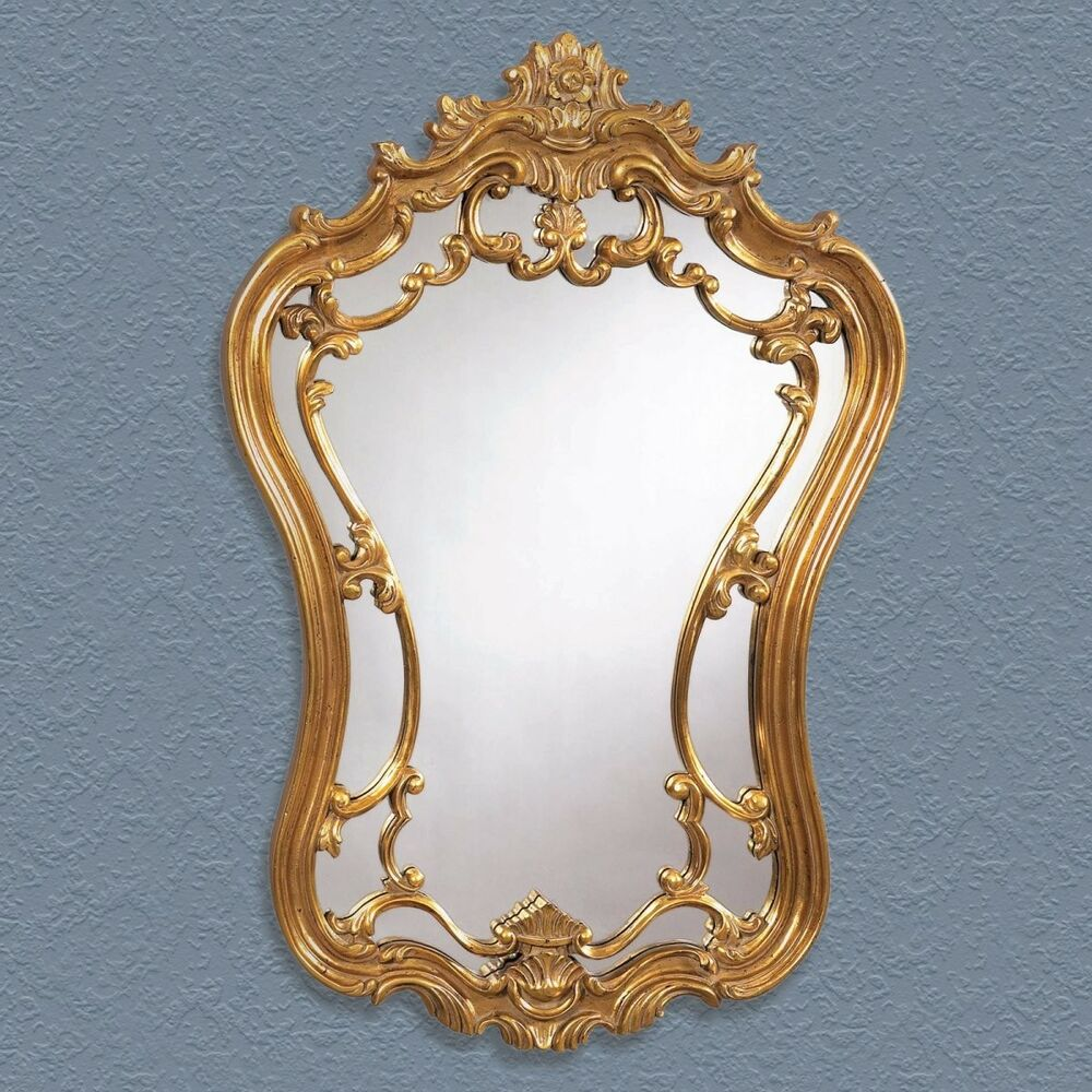 Antique Gold Ornate Decorative Mirror - 24W x 35H in | eBay