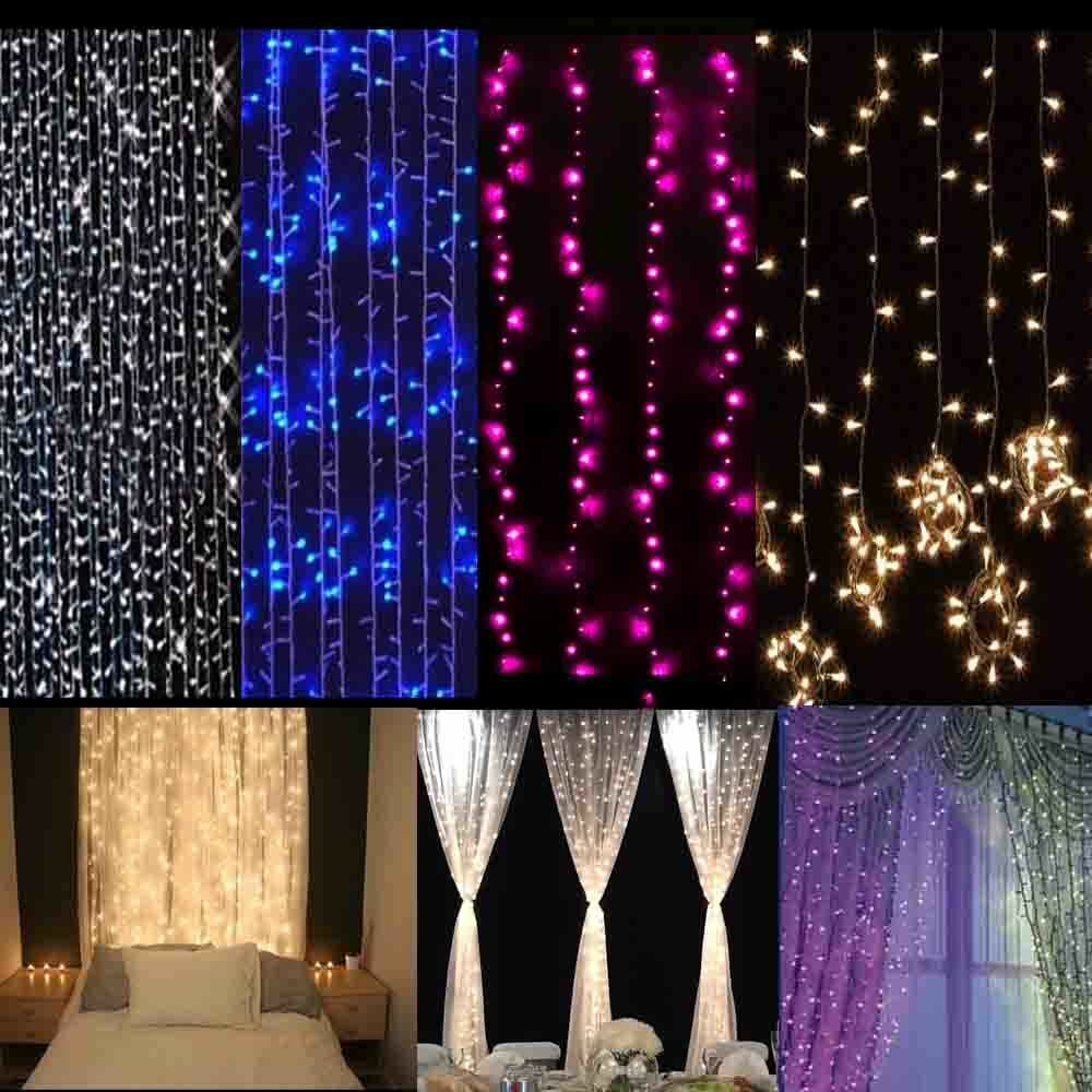 Outdoor Curtain String Lights : 3Mx3M 300 LED Outdoor christmas xmas String Fairy Wedding Curtain Light 110V eBay