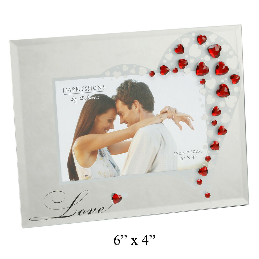 Photo frame with red hearts romantic love gift ideas for for Love picture ideas