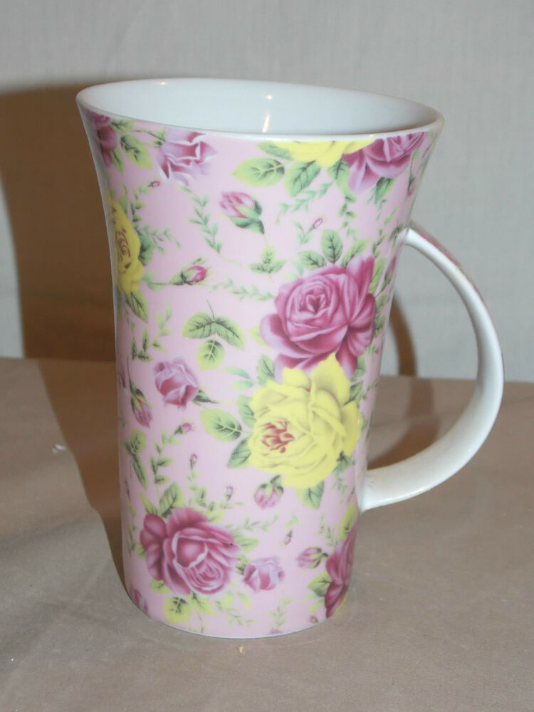 New Pink Amp Yellow Roses Decorative Hot Beverage Coffee Tea