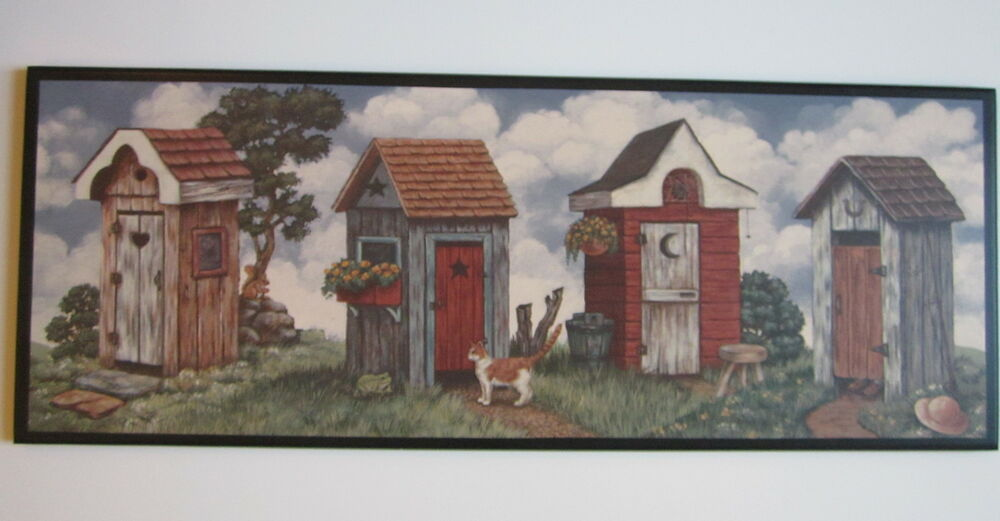 Outhouse Country Bathroom Wall Decor Plaque Primitive Bath