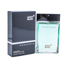 Presence by Mont Blanc 2.5 oz EDT Cologne for Men New In Box