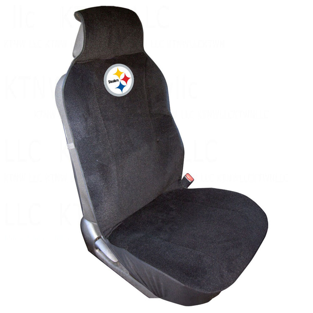 brand new nfl pittsburgh steelers car truck suv van front sideless seat cover ebay. Black Bedroom Furniture Sets. Home Design Ideas