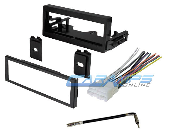 Car truck stereo radio dash installation kit w wiring