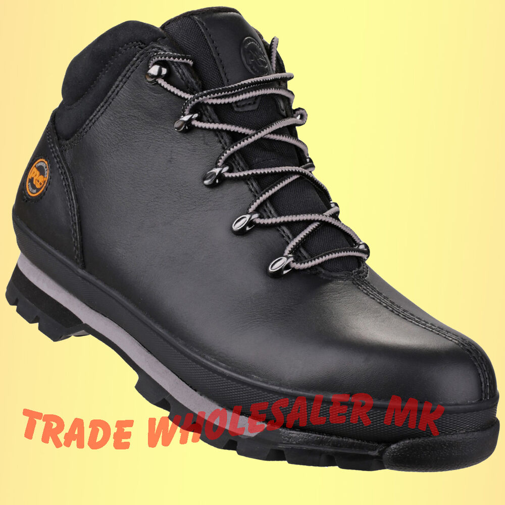 timberland pro steel toe work black safety boots hiker pro