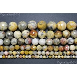 Kyпить Natural Crazy Lace Agate Gemstone Faceted Round Beads 4mm 6mm 8mm 10mm 15.5