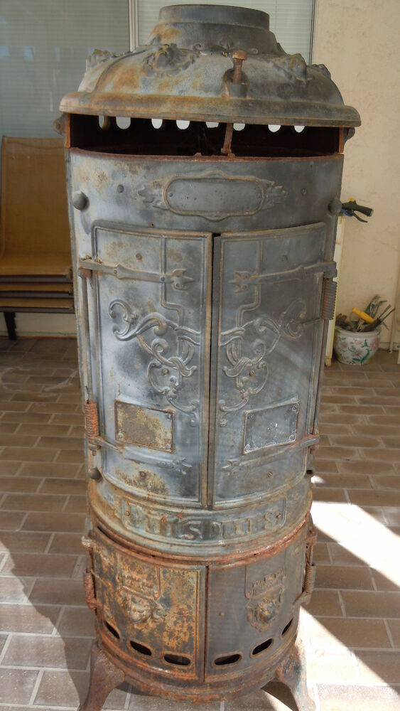 Antique Pittsburg Rare Cast Iron Water Heater Shell Stove
