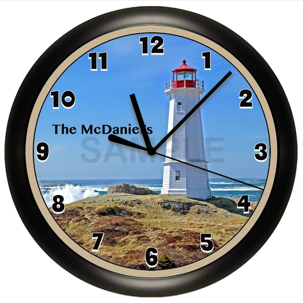 LIGHTHOUSE WALL CLOCK SCRIPTURE VERSE PERSONALIZED GIFT ...