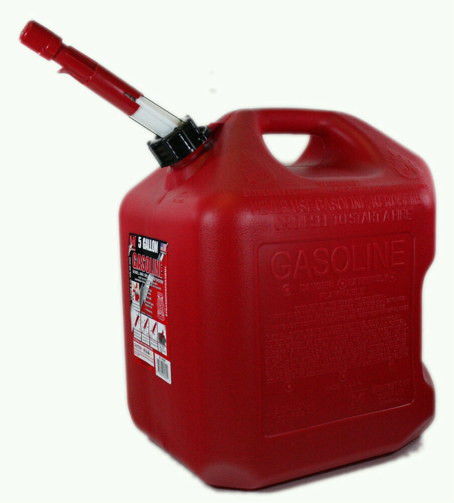 5 Gallon Spill Proof Red Gas Can Fuel Storage Gasoline Usa