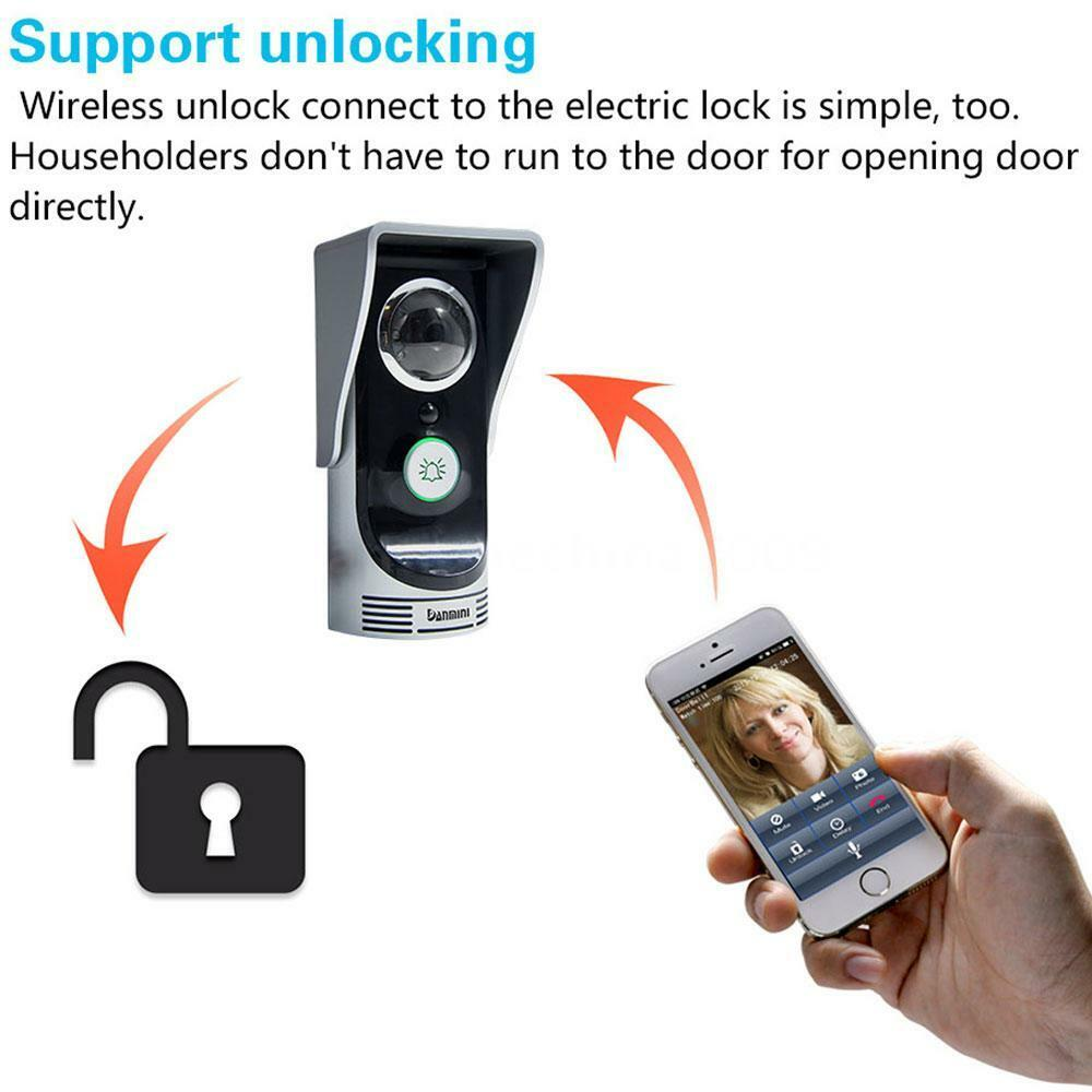 Wireless Smart Peephole Camera Wifi Video Visual Door