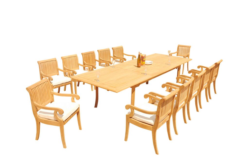 13 PC TEAK SET GARDEN OUTDOOR PATIO FURNITURE POOL GIVA