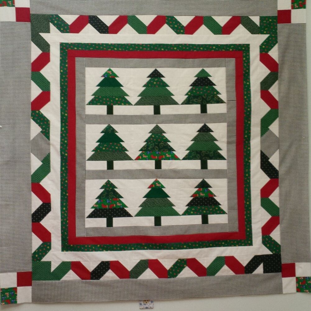 Marking Quilting Designs On Your Top : Scrappy Christmas Trees Quilt Top Pattern By Alicerose Designs eBay
