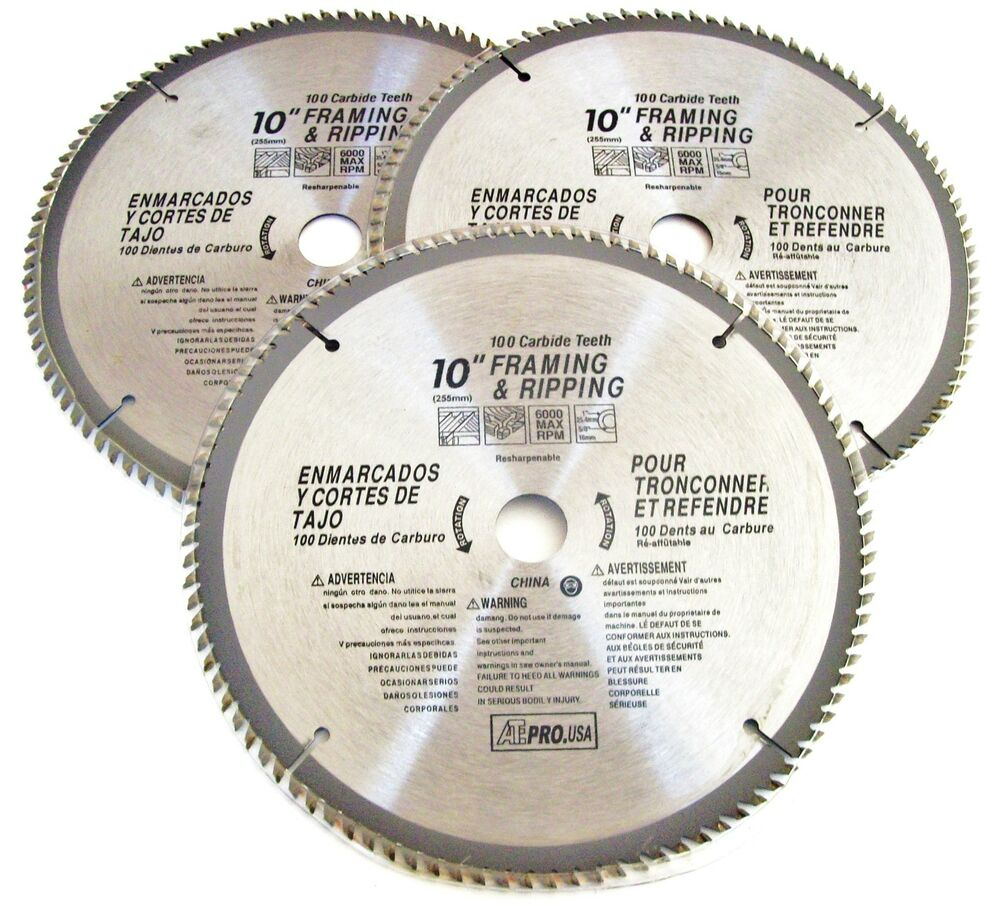 3 ate pro 10 circular table miter saw blades 100t 100 for 10 inch table saw blade reviews