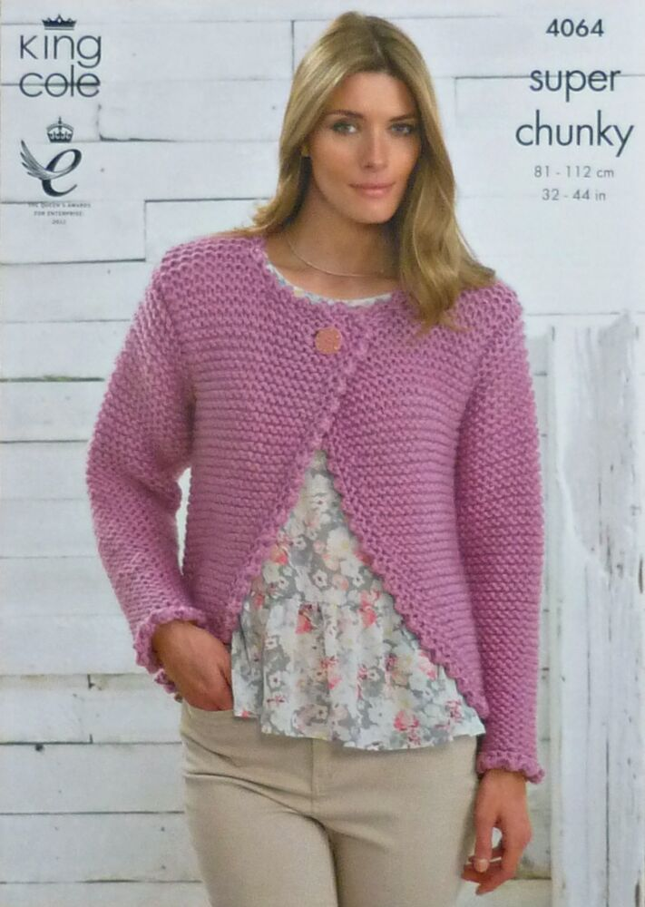 Chunky Cardigan Knitting Pattern : Ladies chunky cardigan knitting patterns cashmere