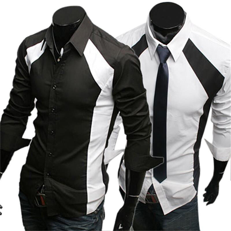 New Fashion Mens Fitted Casual Formal Luxury Italian Style