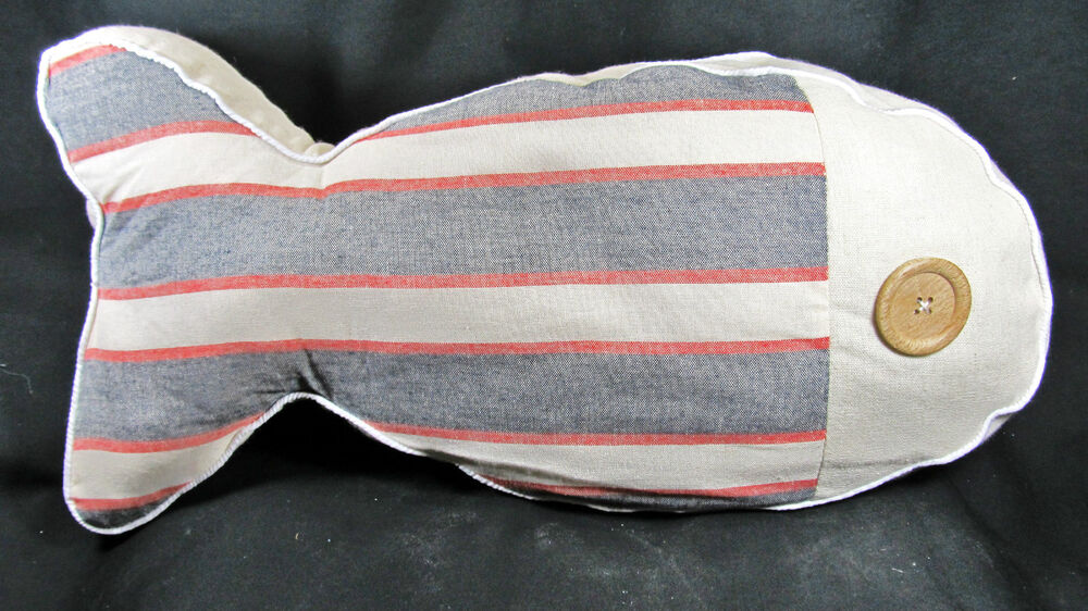 Pillow fish shaped striped decorative home decor a ebay for Fish shaped pillow