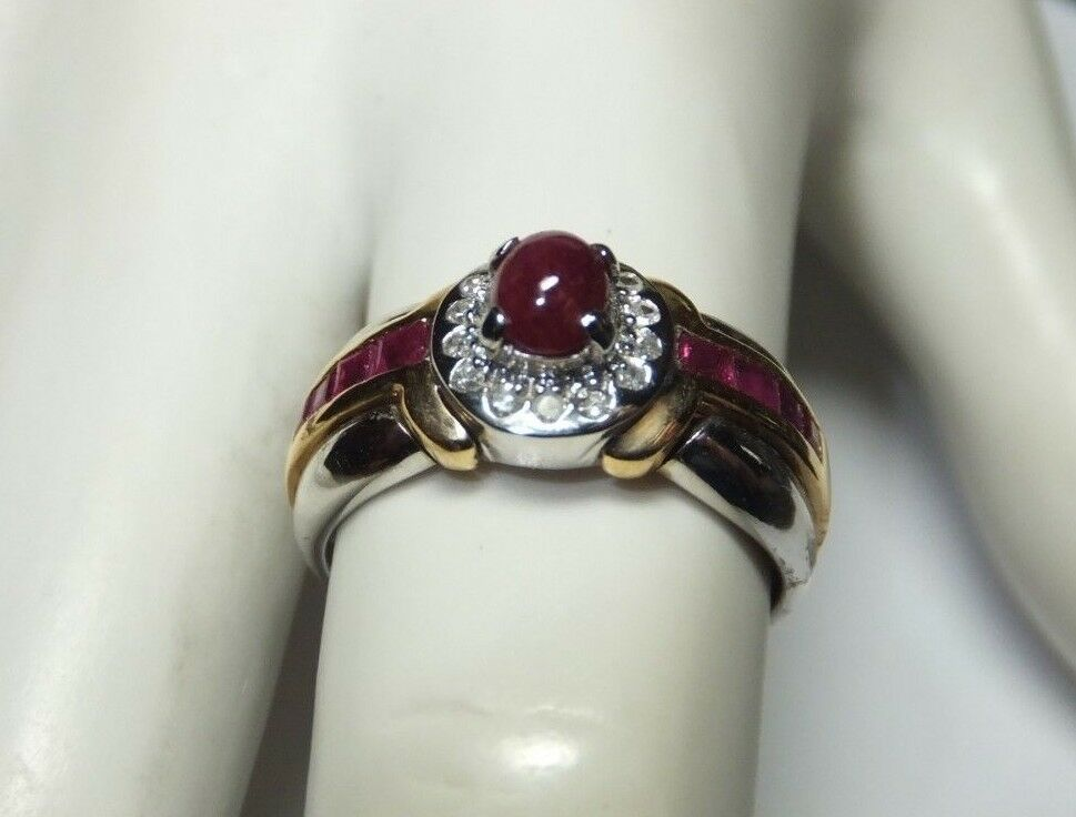 Genuine Ruby Rings Yellow Gold