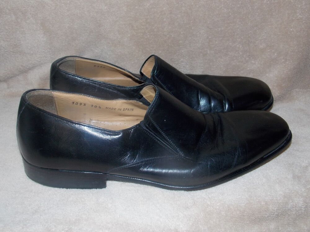 massimo emporio black loafers slip on shoes 10 5 used