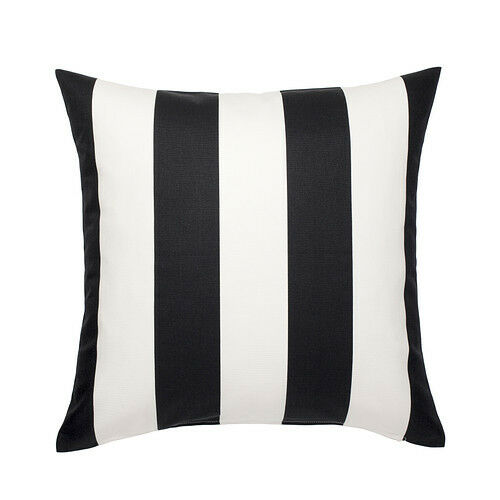 ikea vargyllen cushion cover 20x20 black white stripes. Black Bedroom Furniture Sets. Home Design Ideas