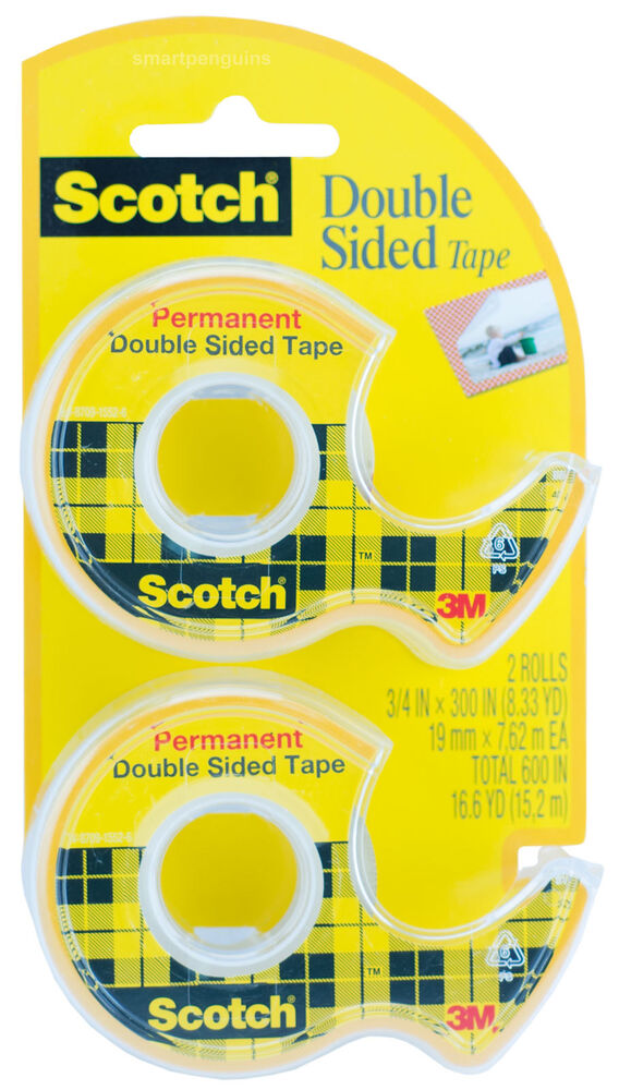 3m scotch double sided tape permanent photo safe 2pk 237. Black Bedroom Furniture Sets. Home Design Ideas