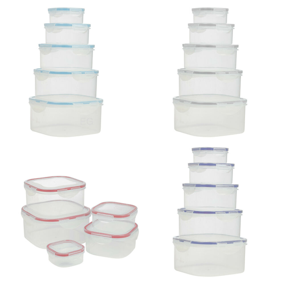 5pcs food storage clip seal lock lids containers boxes. Black Bedroom Furniture Sets. Home Design Ideas