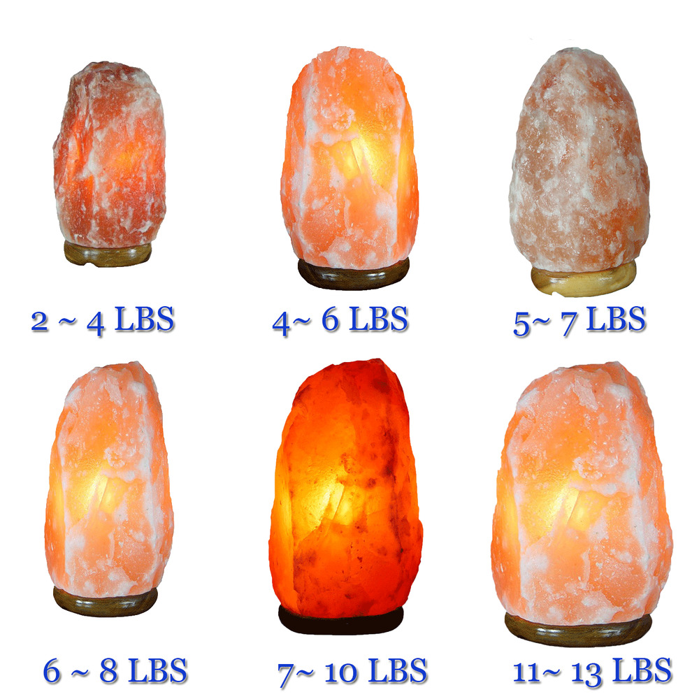 Himalayan Natural Ionic Rock Crystal Salt Night Lamp Purify air Reduce Stress eBay