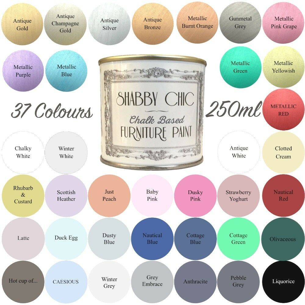 shabby chic chalk paint for furniture 250ml matt finish choice of 37 colours ebay. Black Bedroom Furniture Sets. Home Design Ideas