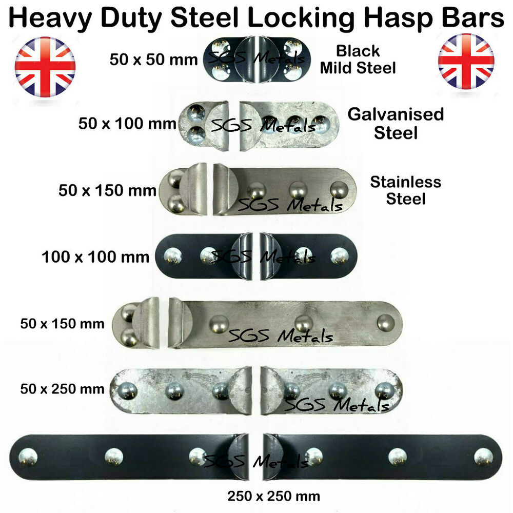 High Security Locking Hasps Shed Garage Van Doors Made