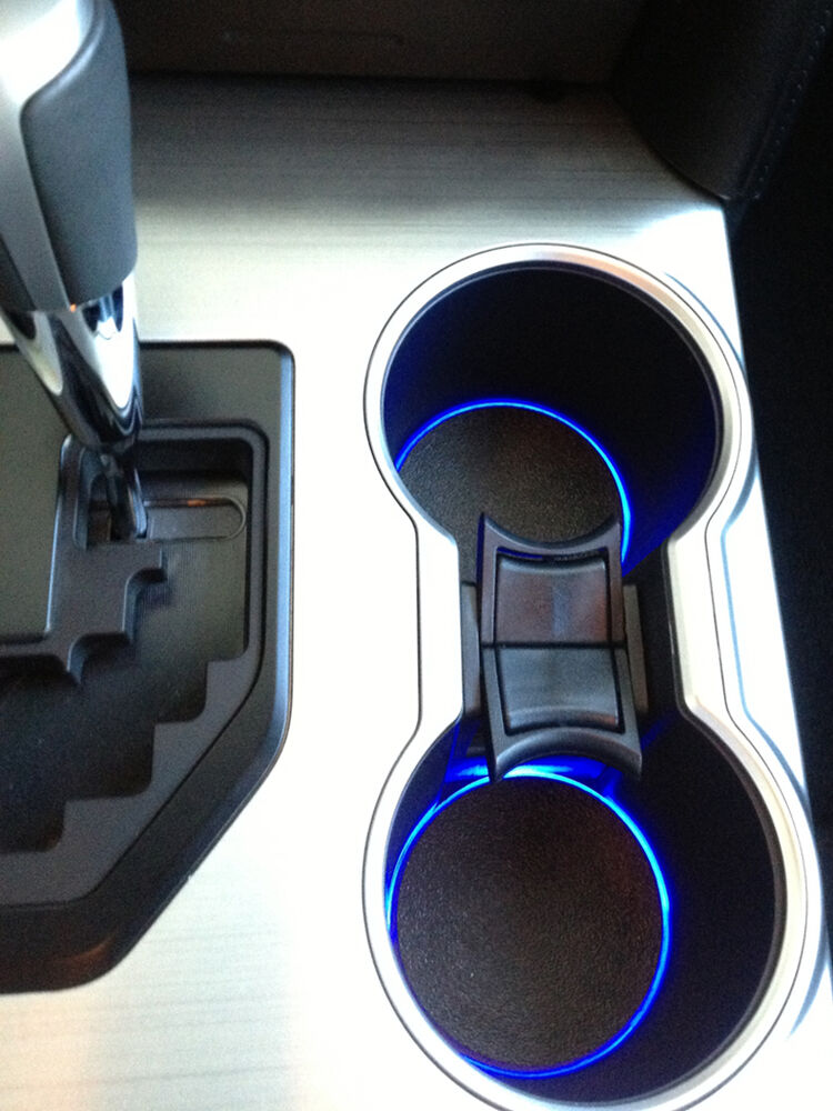 led cup holder lights blue leds fits 2012 2014 toyota camry custom mod ebay. Black Bedroom Furniture Sets. Home Design Ideas