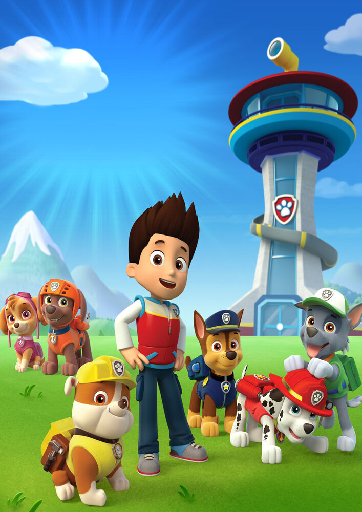 Paw patrol hero kids bedroom giant large wall art poster ppl02 a0 a1 a2 a3 a4 ebay