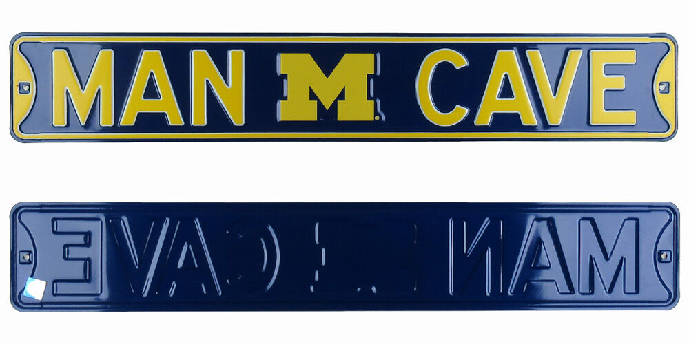 Man Cave Store In Michigan : Michigan wolverines man cave authentic steel licensed