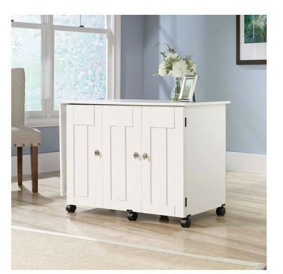 Sewing Craft Table Desk w/ Shelves Organizer Home Office Room Multiple