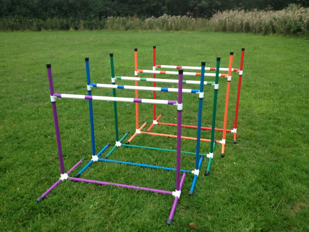 Dog Agility Coloured 2x Sliding Jumps with a Fixed Base by ...