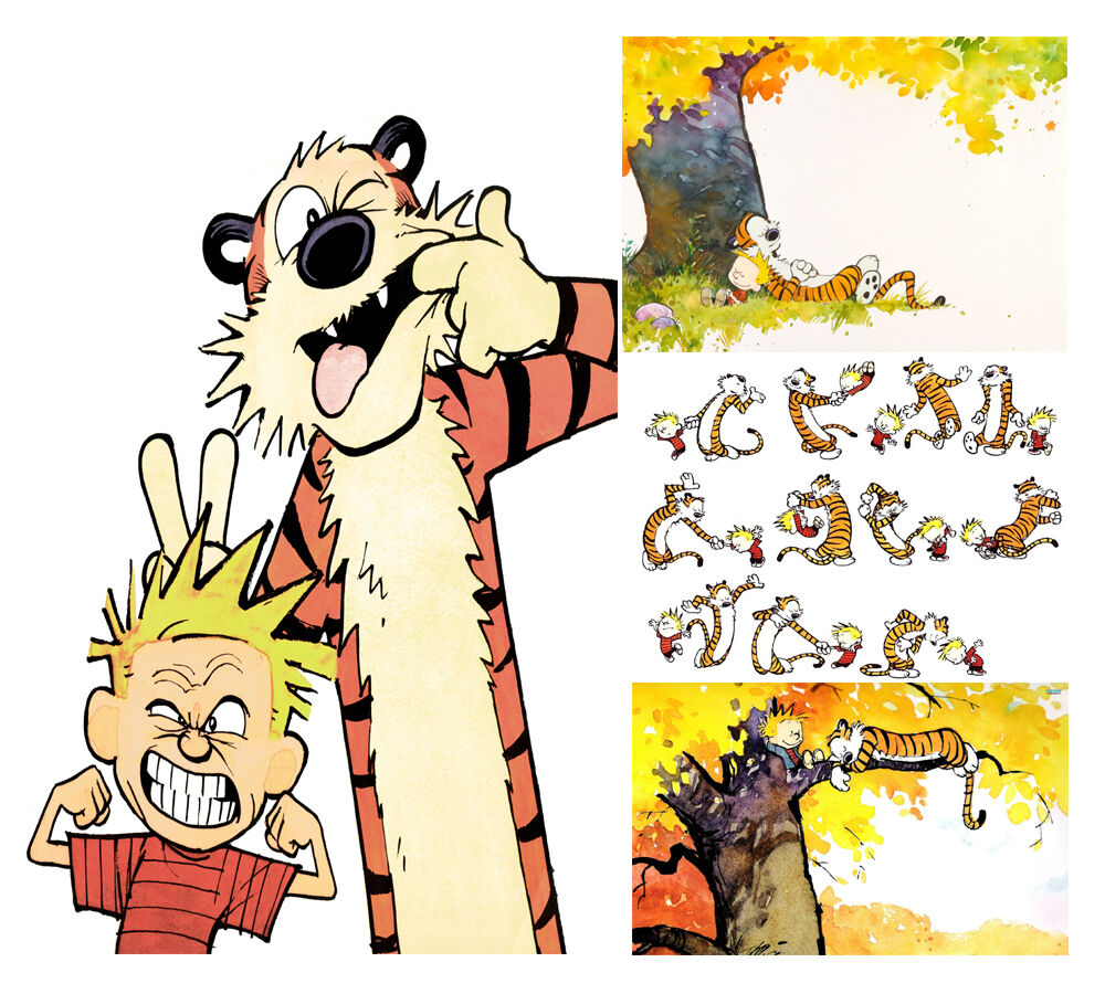 CALVIN AND HOBBES POSTER PRINT WALL ART A2/A3/A4 CHOOSE FROM FOUR ...