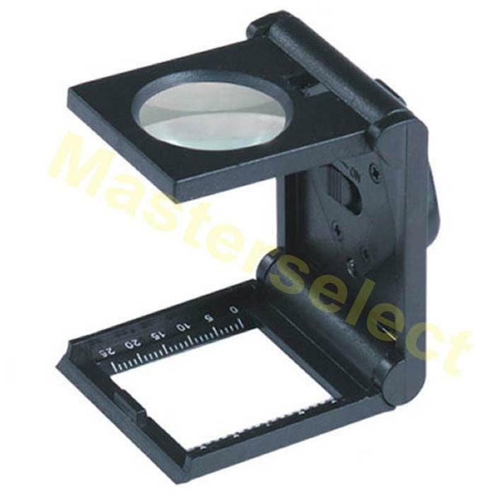 petite loupe de philatelie optique x5 pliable 25mm avec lampe led puissante ebay. Black Bedroom Furniture Sets. Home Design Ideas