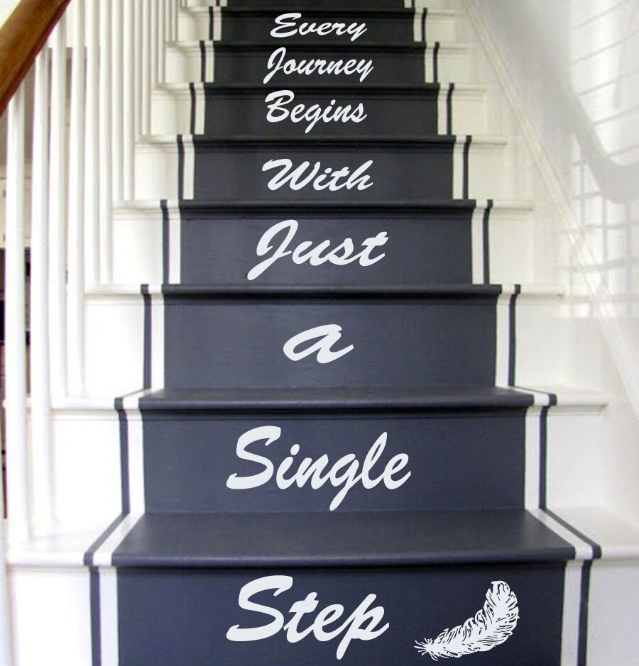 Stairs Decal Quote Stairway Vinyl Sticker Stairs Staircase