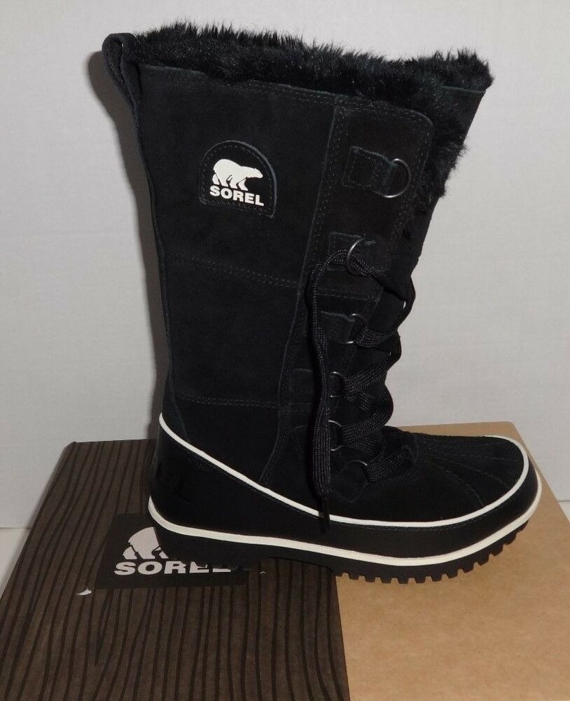 new sorel s tivoli high ii black winter boots