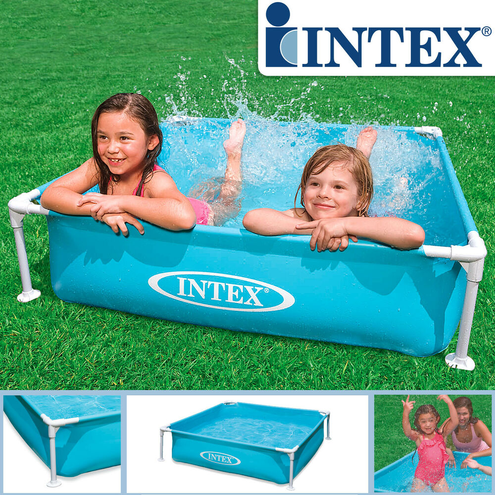 intex frame schwimmbad kinderpool pool planschbecken mini 122x122x30cm babypool ebay. Black Bedroom Furniture Sets. Home Design Ideas