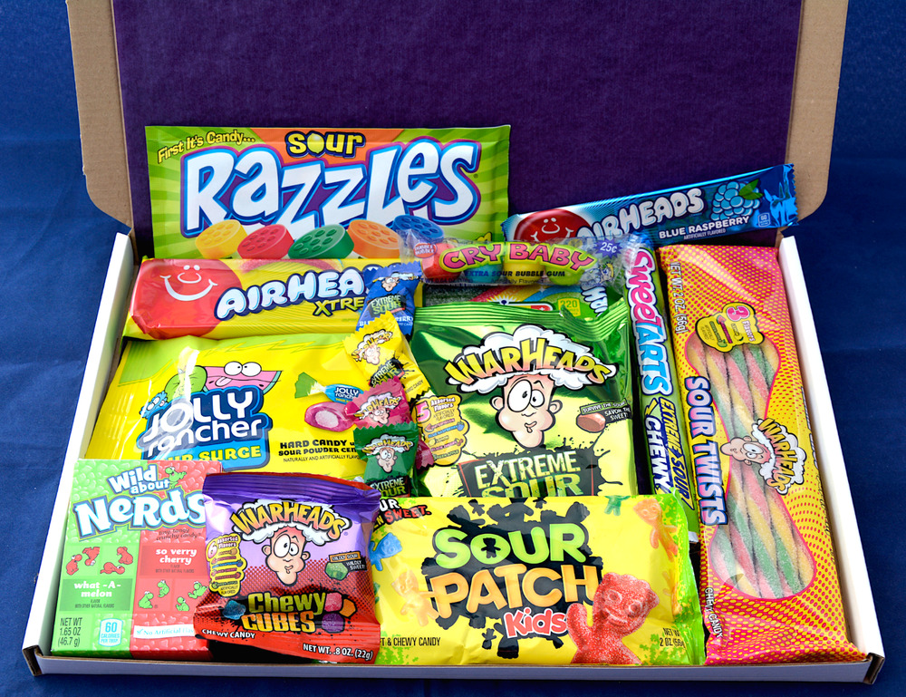American Sour Candy Hamper Birthday Present Sour