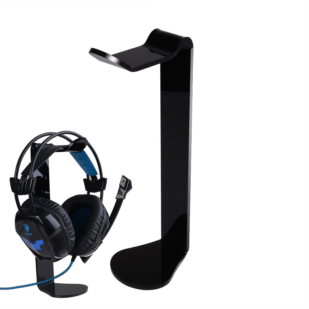 Acrylic Headphones Headset Stand Desk Display Hanger