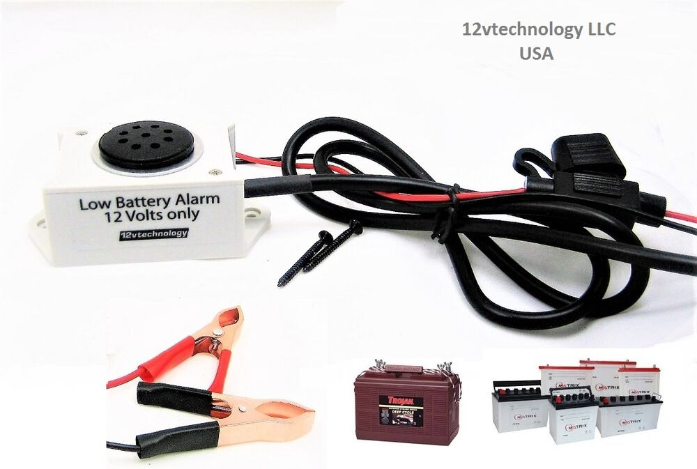 12v Rv Battery Monitor : Alarm prevent low battery failure v discharge bank