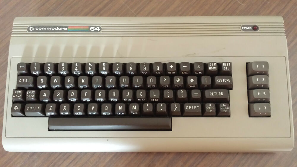 COMMODORE 64 VINTAGE COMPUTER English keyboard layout | eBay
