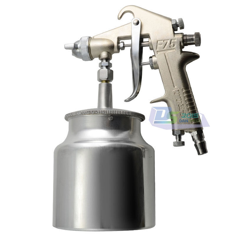 siphon feed heavy duty paint spray gun sprayer kit. Black Bedroom Furniture Sets. Home Design Ideas