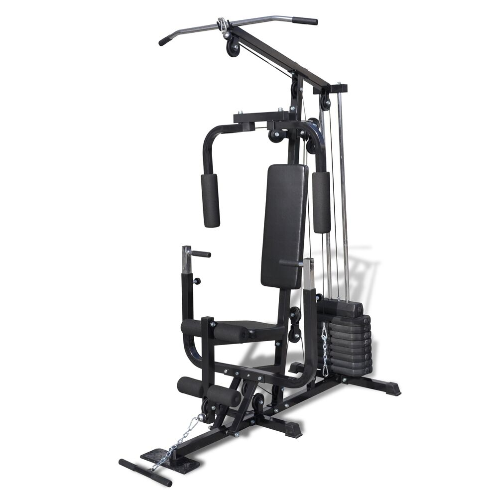 new home fitness multi gym bench utility strength equipment weights machine ebay. Black Bedroom Furniture Sets. Home Design Ideas