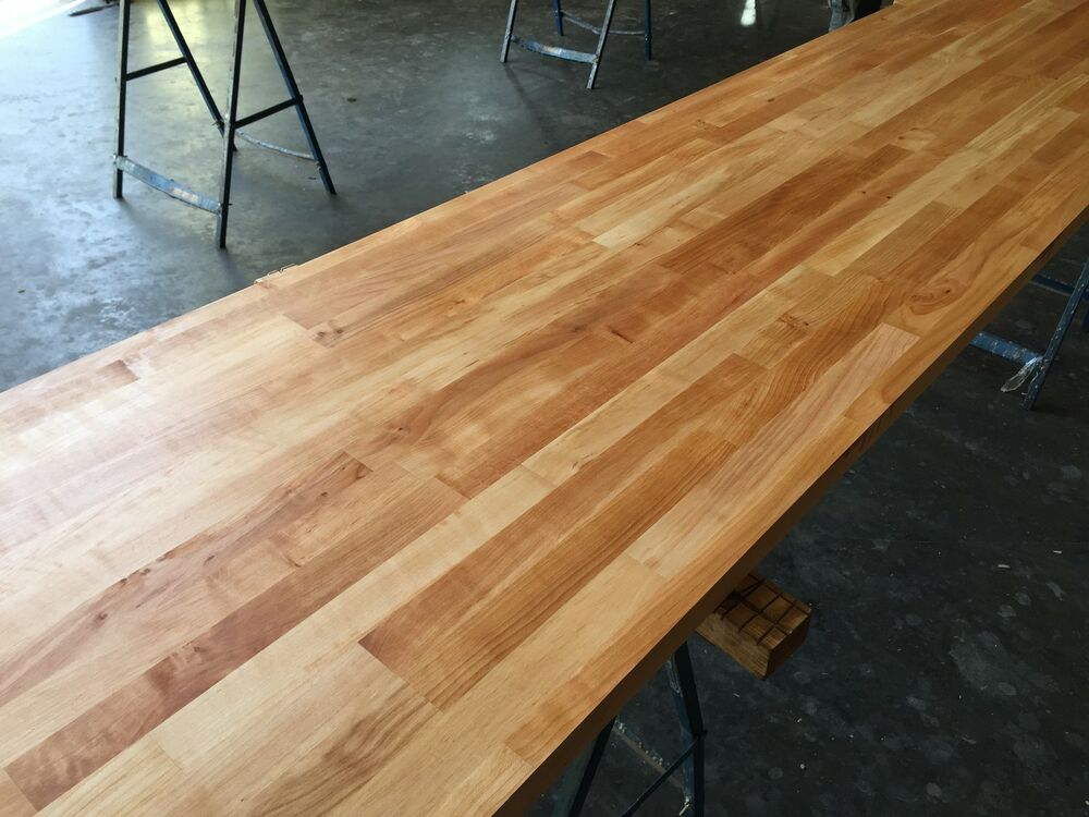 Prime Cherry Solid Wood Worktop 40mm Staves Hard Timber